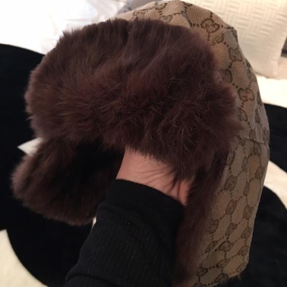 Gucci Accessories - Gucci hat with rabbit fur trim!! Sooo adorable! d8579f7daf4