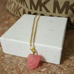 Jewelry - 💓pink Druzy quartz necklace💓