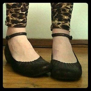 Report Shoes - **SOLD** REPORT 'Camila' ankle-strap low wedges