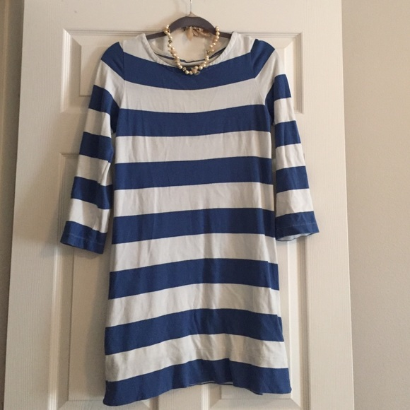 J. Crew - J Crew blue and white striped shirt dress from Nat's ...