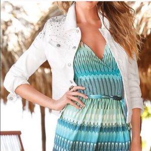 Boston Proper Jackets & Blazers - ❤️Boston Proper Embellished white Jean Jacket❤️