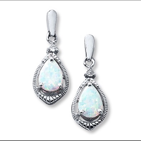 44% off Kay Jewelers Jewelry Pear shaped opal earrings from Vonda s clo