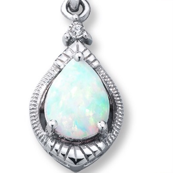 44% off Kay Jewelers Jewelry Pear shaped opal necklace from Vonda s clo