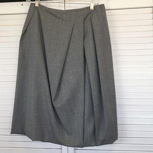 Lafayette 148 pleated skirt with bubble trim