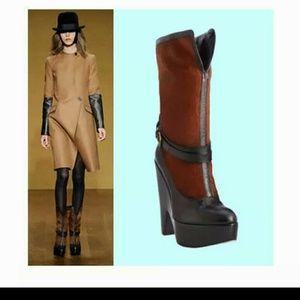 Derek Lam Shoes - Derek Lam leather trim wedge heel shoes