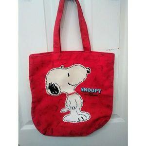 Peanuts Handbags - Preloved Red Snoopy Tote