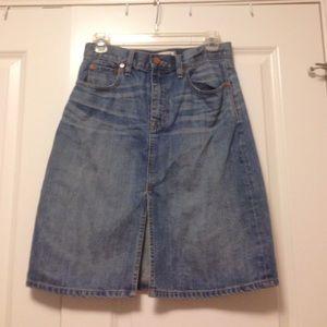 Madewell High Rise Denim Skirt 27