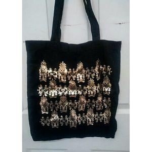 Gold Foil Diamond/Breathe Carolina Tote Bag