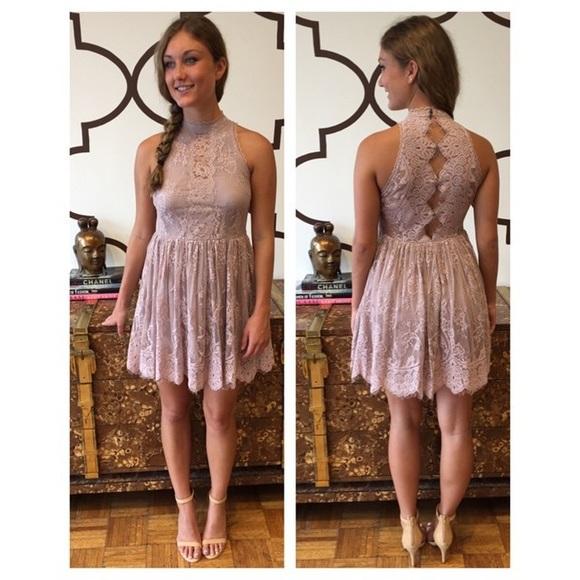 aa49e008578 NEW Free People Verushka lilac lace Party dress