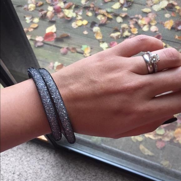 Swarovski Jewelry , Black Stardust Double Bracelet