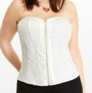 fashion to figure  Tops - New sexy Ivory rose print Corset