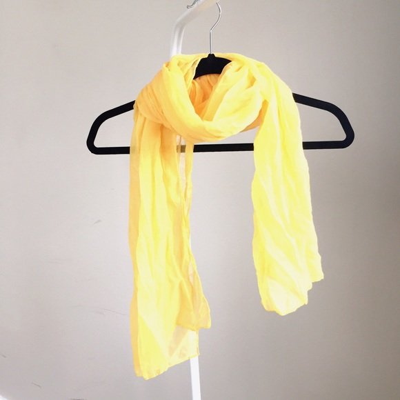 Zara Accessories - Like NEW soft yellow silky light scarf