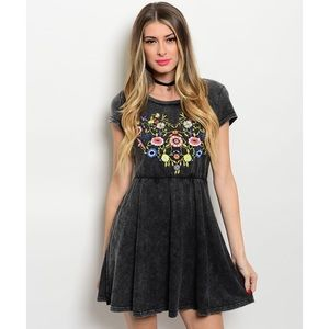 SALE! Floral Embroidered Dress