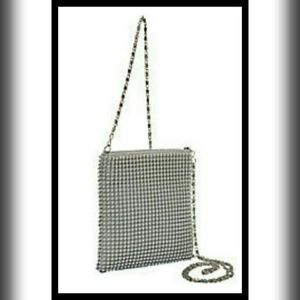 PRICE ✂️MAGID BALL METAL MESH CROSSBODY BAG