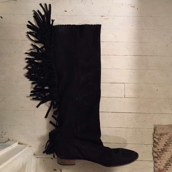 63 zara shoes zara suede fringe boots from