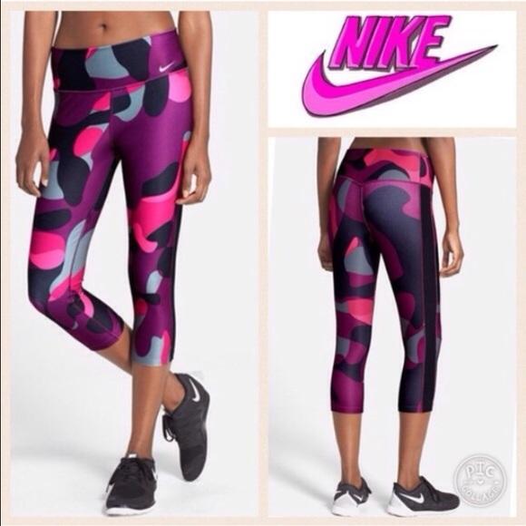 22370688c058 Nike Camo Pink and Purple Yoga Pants