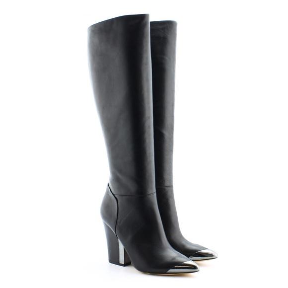 a25387278809dd Sam Edelman Maureen Black Boots w  Chunky Heel