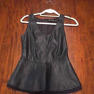 Faux leather top Zara