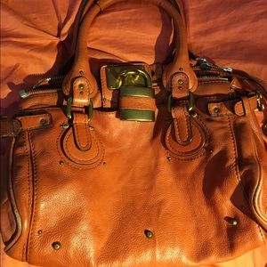 Chloe orange handbag