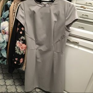Ava & Aiden Dresses & Skirts - Ava & Aiden Stone Gray Work A-line Dress Size 8