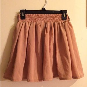 Pale pink skirt