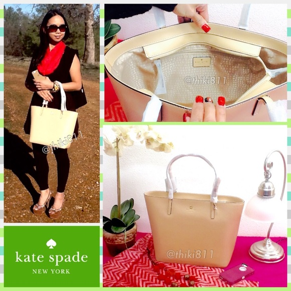 2bc0ae2a95 KATE SPADE Sawyer Street Maxi Tote in NATURAL