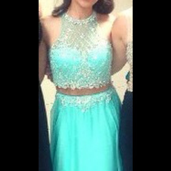 Sherri Hill Dresses | Seafoam Two Piece Prom Dress | Poshmark