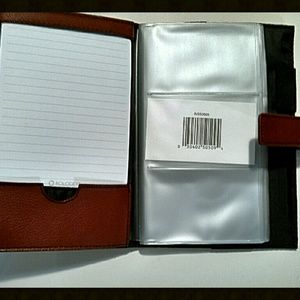 Rolodex Accessories Business Card Book 72 Capacity Red 50509