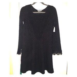 Charlotte Russe black Lace long sleeve dress
