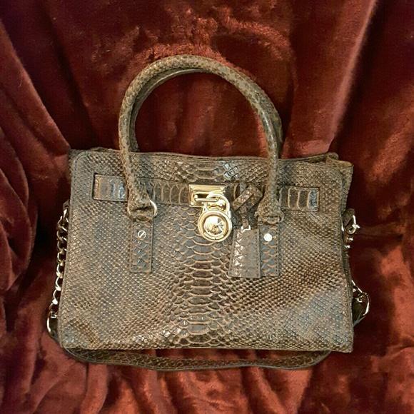 c765109a0138 Michael Kors Bags | Special Edition Hamilton Mocha Python | Poshmark