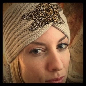 Accessories - Knitted Turban Embellished Hats