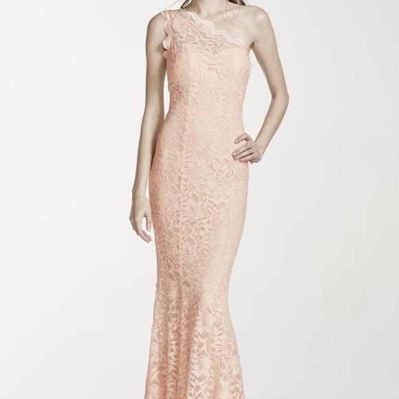 David\'s Bridal Dresses | Davids Bridal Light Pink Lace Prom Dress ...