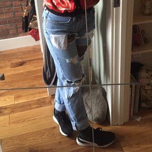 Vintage button up light wash mom jeans