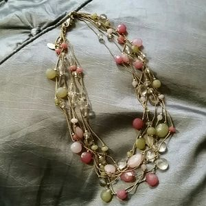 Layered & Beaded Necklace - Girly, Vintage Vibe!