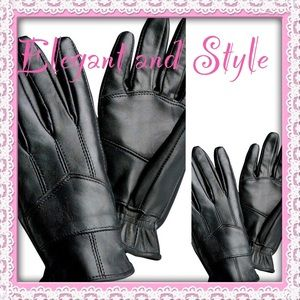 Accessories - Holiday HP 🎉 Solid Genuine Leather Gloves