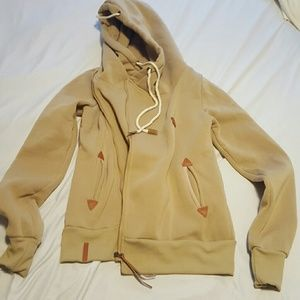 NWOT Brown zip up hoodie