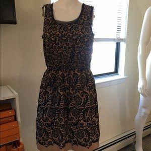 Black and Tan lace Rodarte for Target dress size M