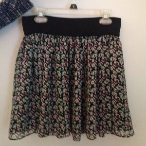 Forever 21 Floral Miniskirt