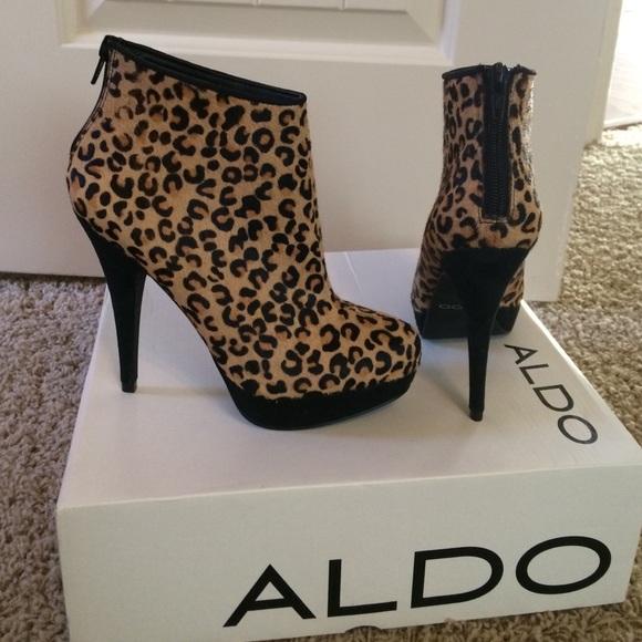 5a3f83904f2 ALDO Shoes - ALDO leopard skin booties