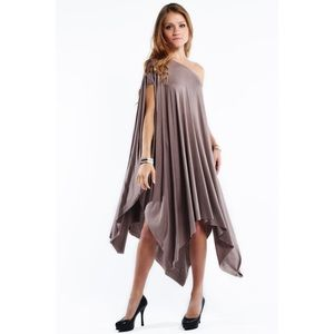 "Bare Anthology Dresses & Skirts - ""Libra"" Asymmetrical Poncho Dress"