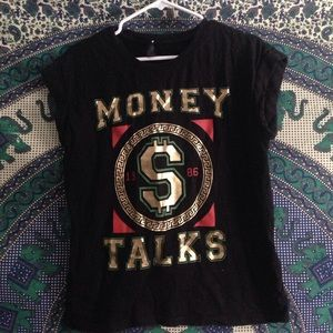 """money talks"" graphic tee size small"