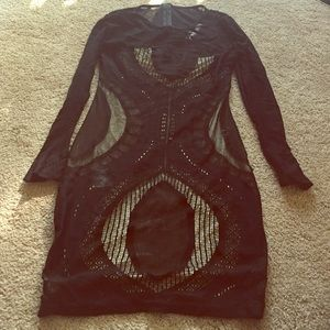Dresses & Skirts - NWOT Sheer Nude Black Illusion Dress