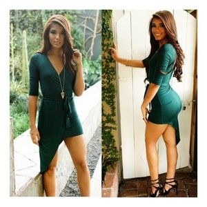 Want My Look Dresses & Skirts - HP 🎉🎉🎉 Yovanna Wrap Dress-Green (Want my look)