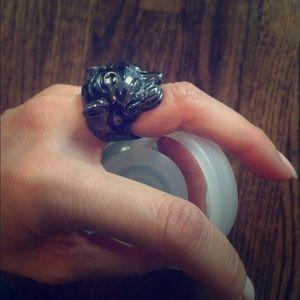 Jewelry - Roaring Black Tiger ring