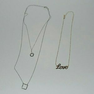 Jewelry - Love Necklace and Layered Necklace Set