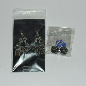 "Jewelry - ""Amber"" Earrings  and Blue Dangle Earrings"