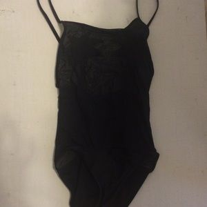 Other - black Palm tree swimsuit