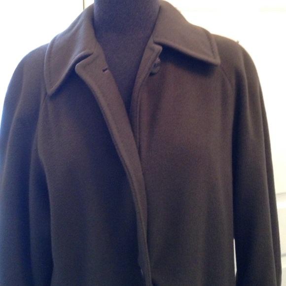 93% off Regency cashmere Jackets &amp Blazers - Long chocolate