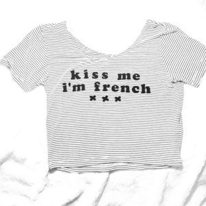 Kiss me I'm French xxx crop top:-)