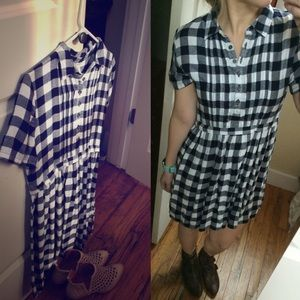 Nwt gingham dress forever 21 s plaid